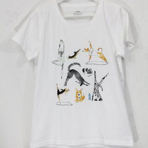 J Crew Graphic T Shirt Yoga Dog XS Collector Tee